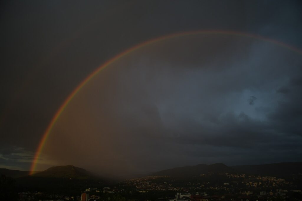 arcoíris de noche