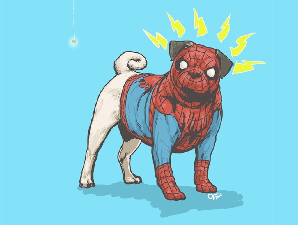 10 superhéroes convertidos en perros