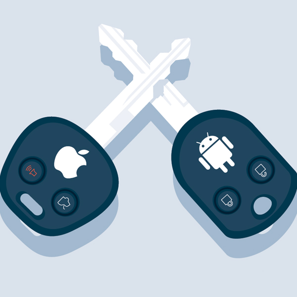 Android e iOS para el salpicadero del coche