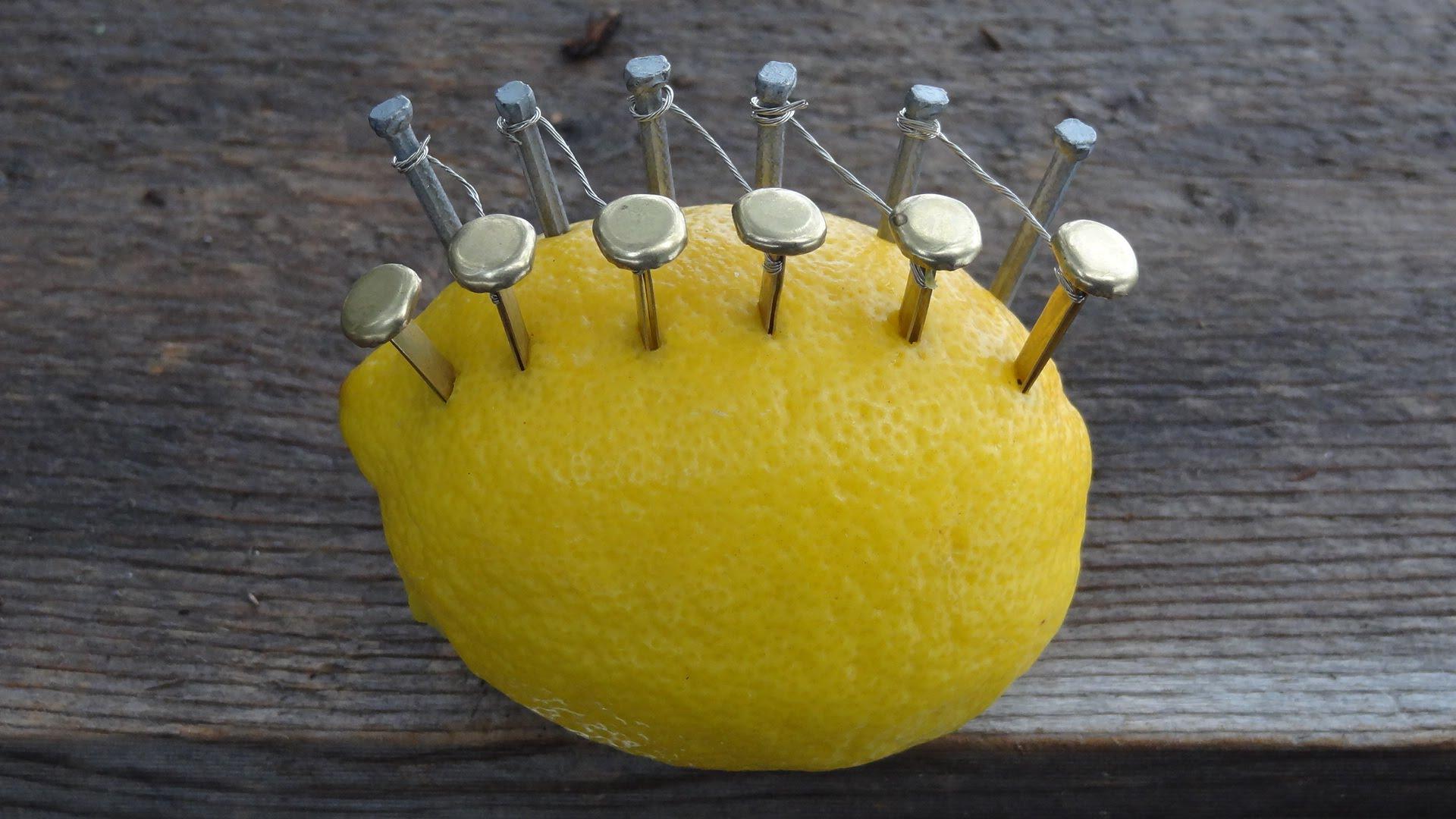 Aprende a hacer una fogata con un limón