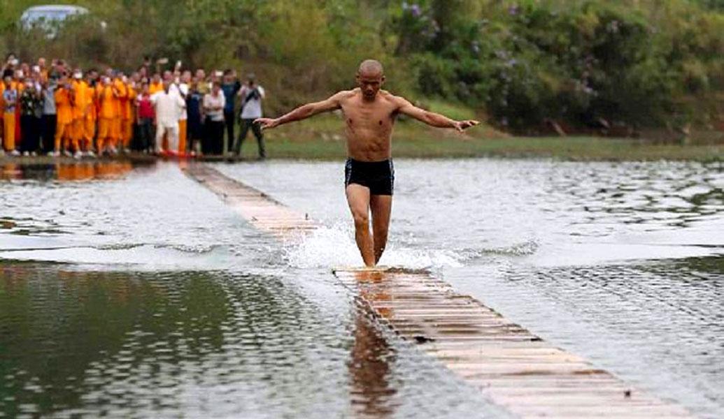 Así se corre sobre el agua