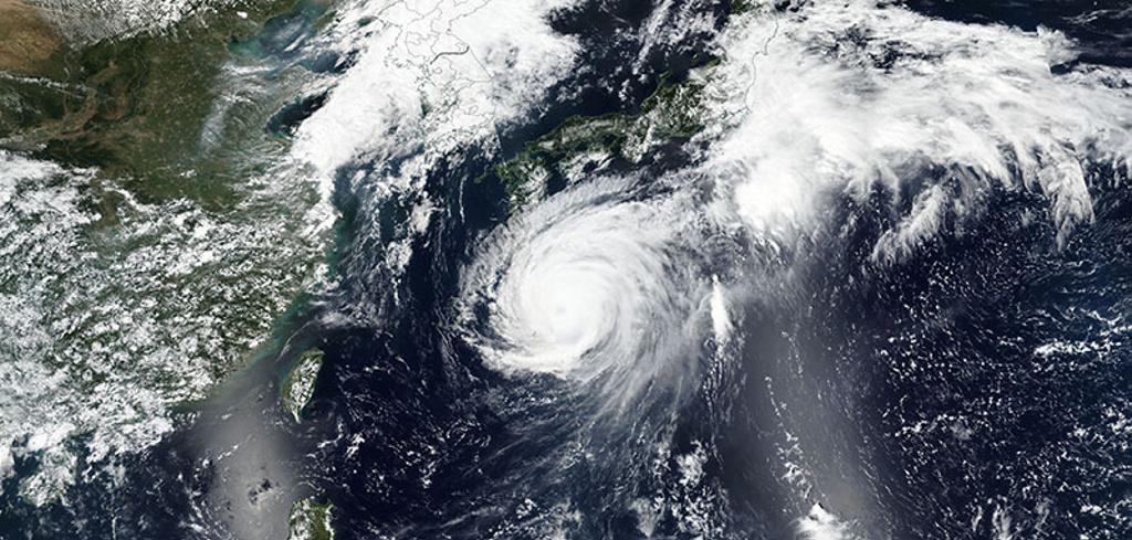Así se ve el super tifón de Japón desde el espacio