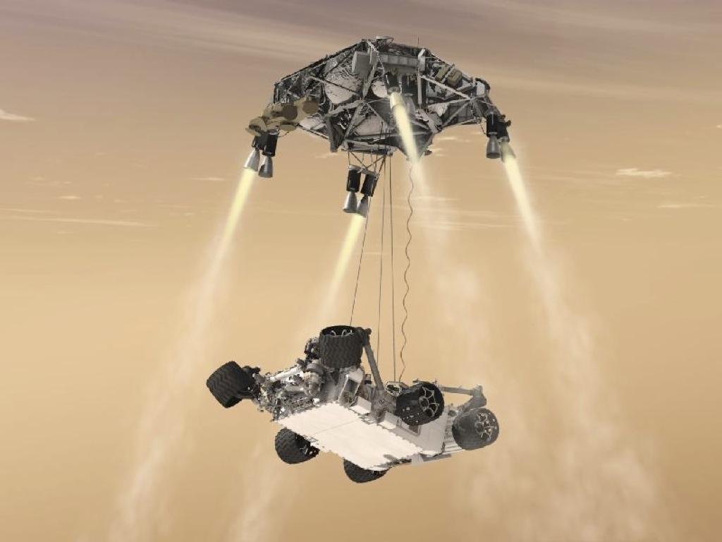 Así bajará Curiosity a Marte