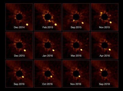 El primer vídeo sin precedentes de un exoplaneta orbitando su estrella