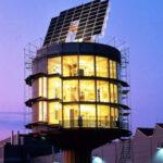 Casa rotatoria solar