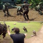 Cuidadores de zoos imitan con sus animales escenas de 'Jurassic World'