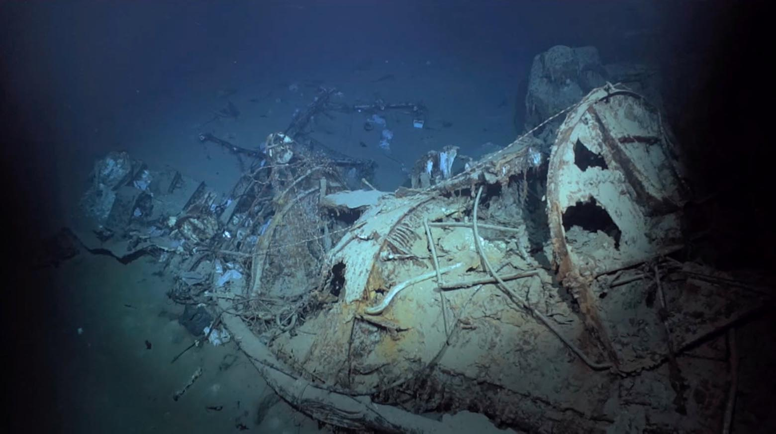 Descubren un destructor hundido de la II Guerra Mundial