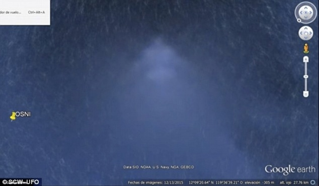 Descubren una supuesta pirámide submarina con Google Earth