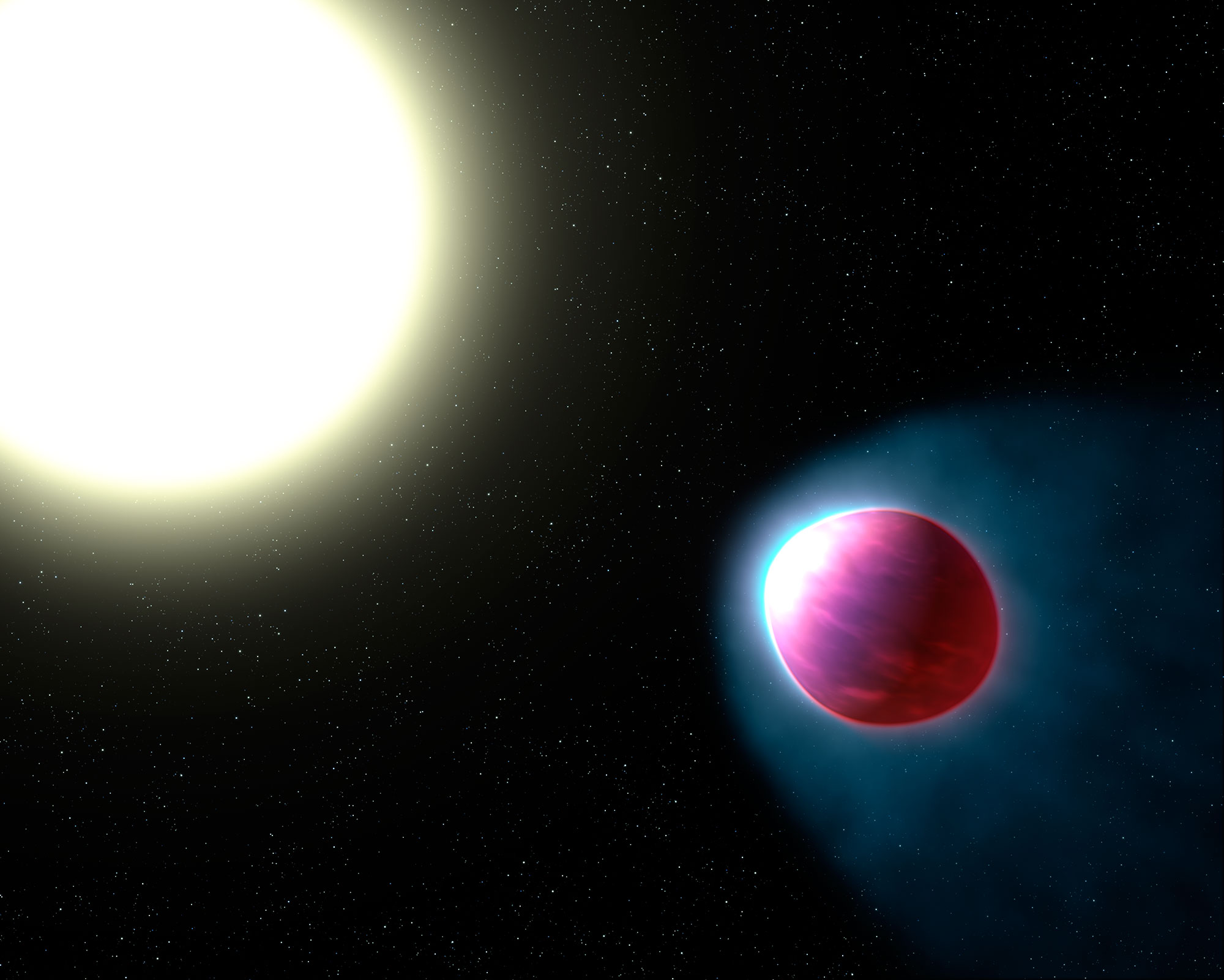 El Hubble detecta la primera estratosfera de un exoplaneta.