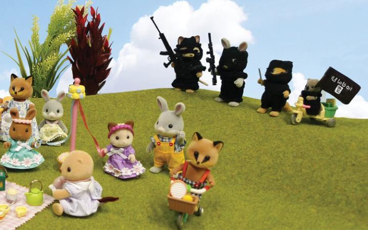 El ISIS atacando a inocentes conejiillos