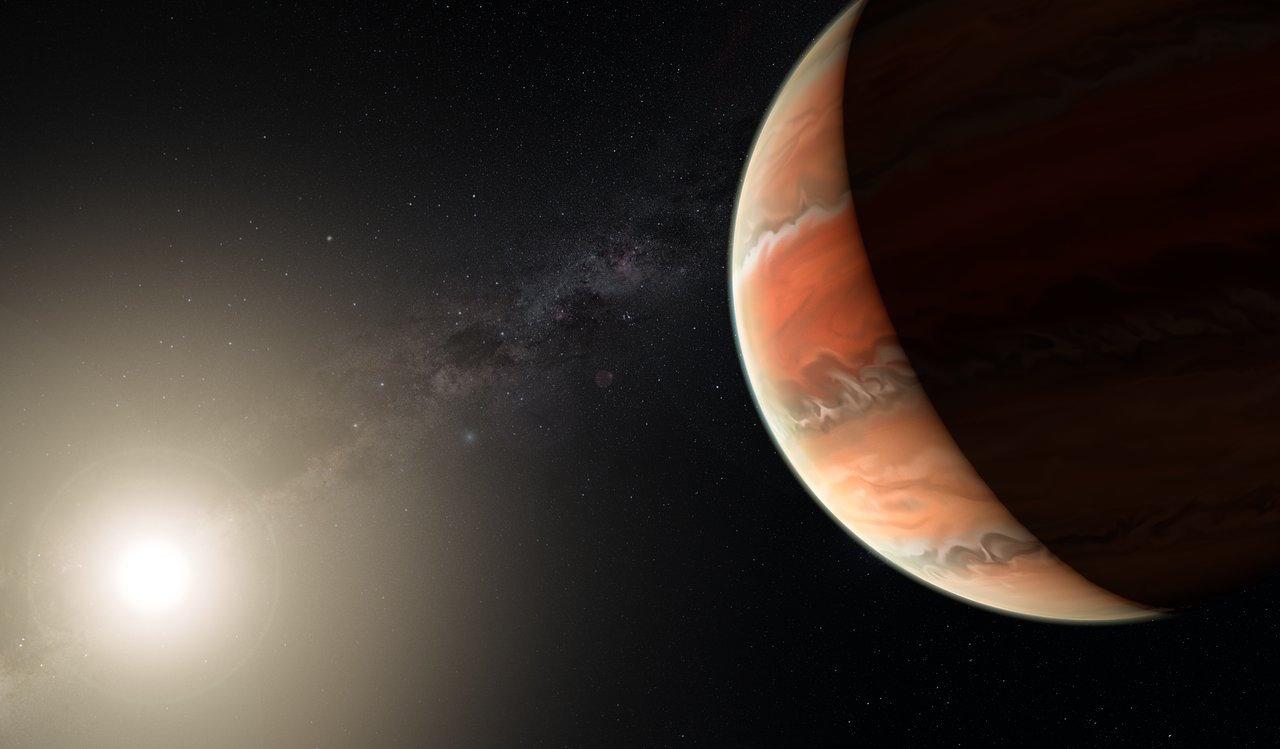 El planeta con cielos de titanio