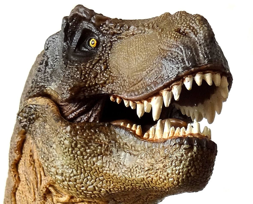 El tiranosaurio rex no podía sacar la lengua