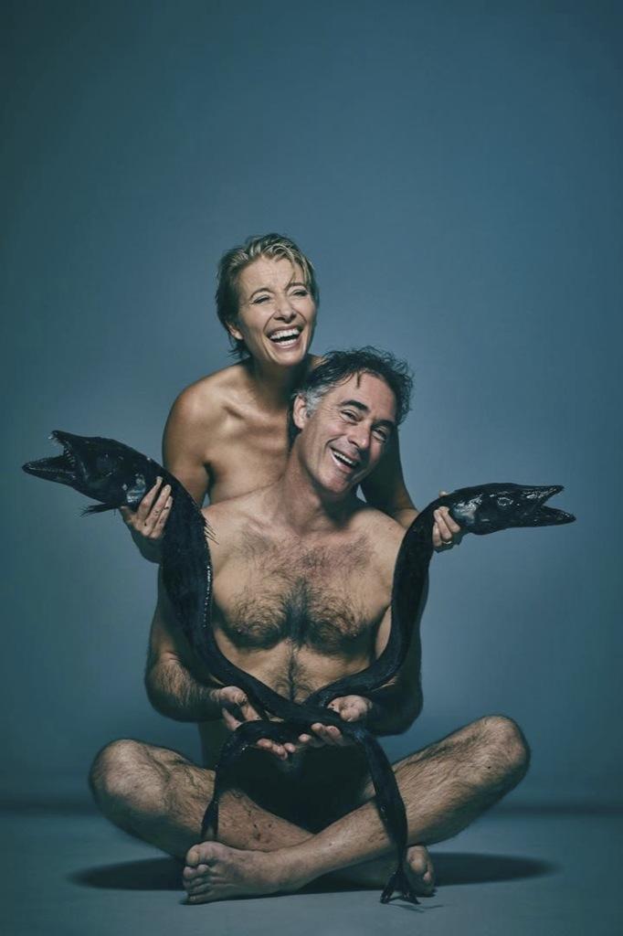 Emma Thompson se desnuda para salvar la fauna marina