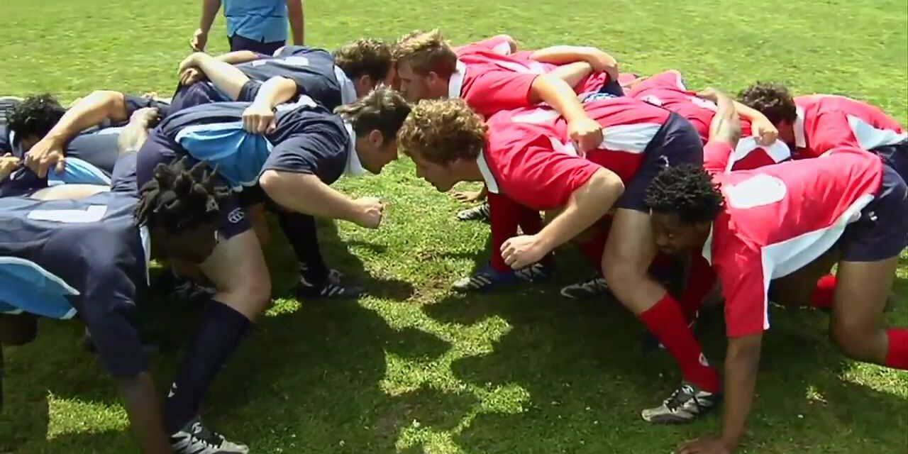 ¿En qué se parece un jugador de rugby y el mordisco de un Tiranosaurio Rex?