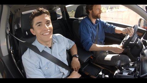¿Por qué Marc Marquez se parte de risa dentro de un Honda?