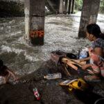 Impresionantes fotos del tifón Sarika