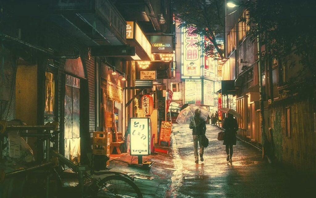 La belleza nocturna de Tokio