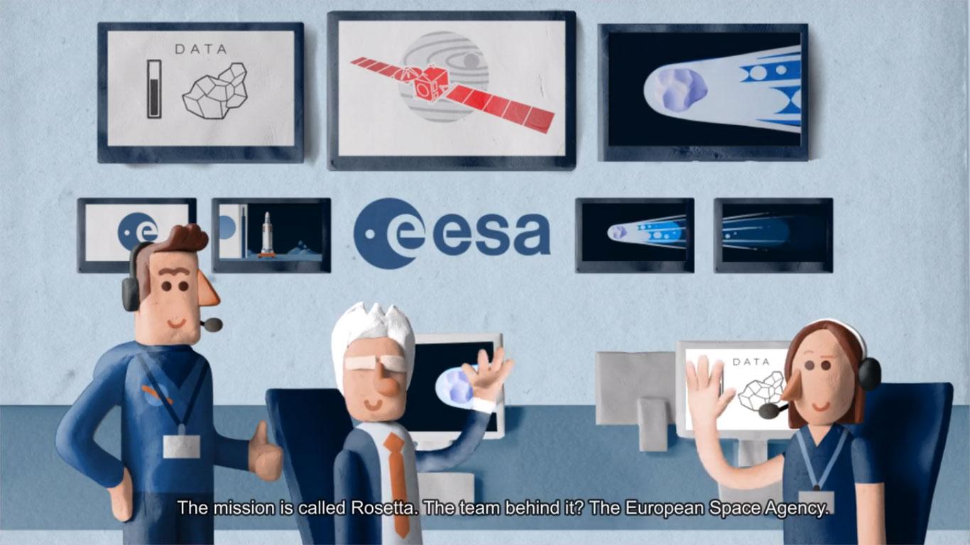La misión Rosetta recreada y explicada con plastilina