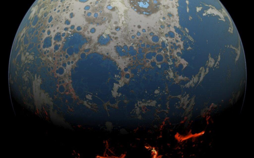 La paliza de asteroides que configuró la Tierra