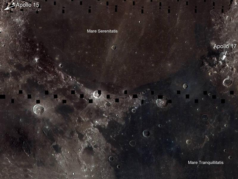 La Luna, llena de titanio