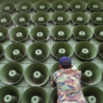 Los altavoces propagandísticos enmudecen en la frontera entre las dos Coreas