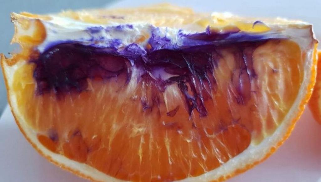 Los científicos aún no saben por qué esta naranja se volvió morada