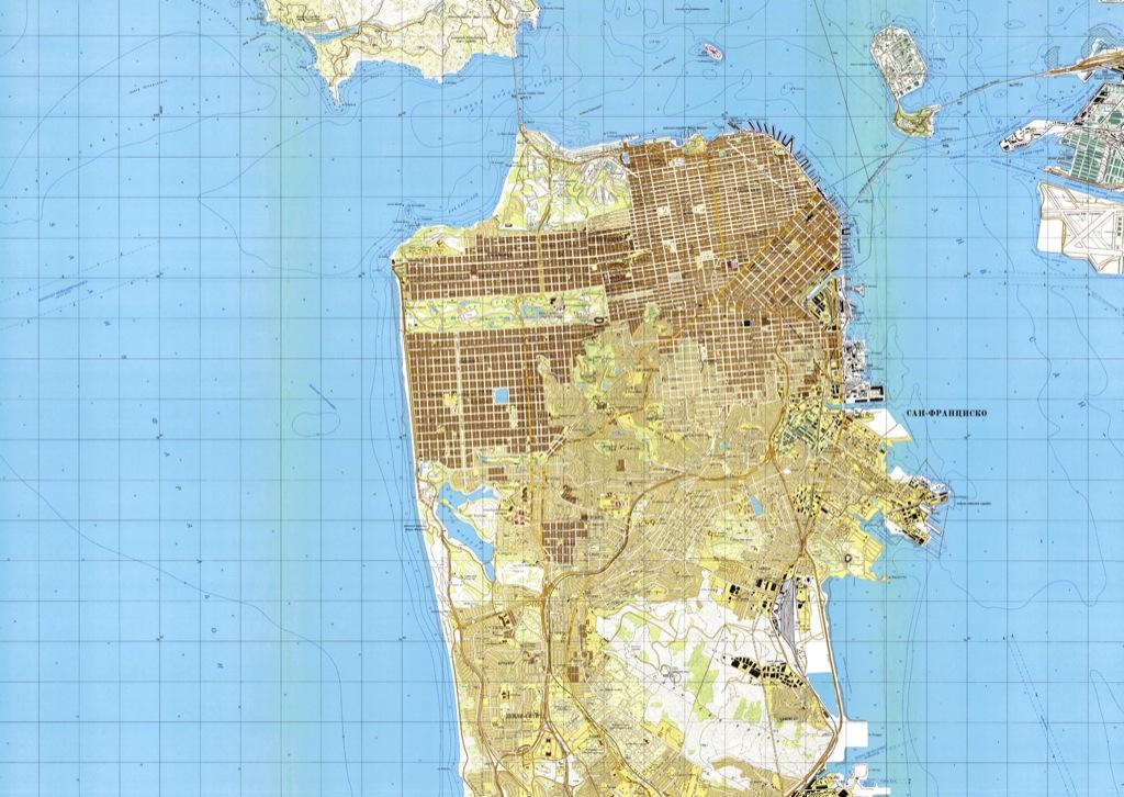 Los sorprendentes mapas del espionaje soviético