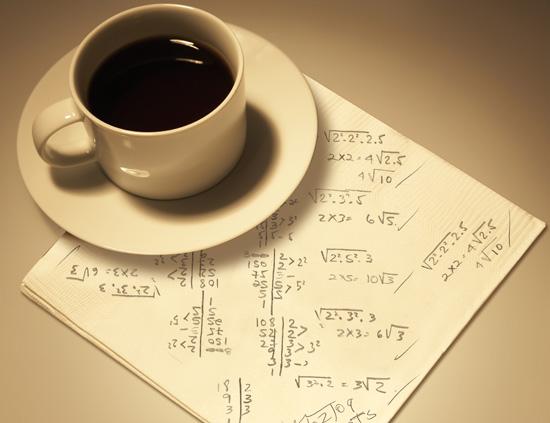 Matemáticas en una servilleta