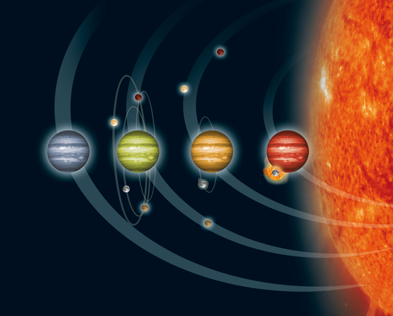 Planetas que pierden lunas
