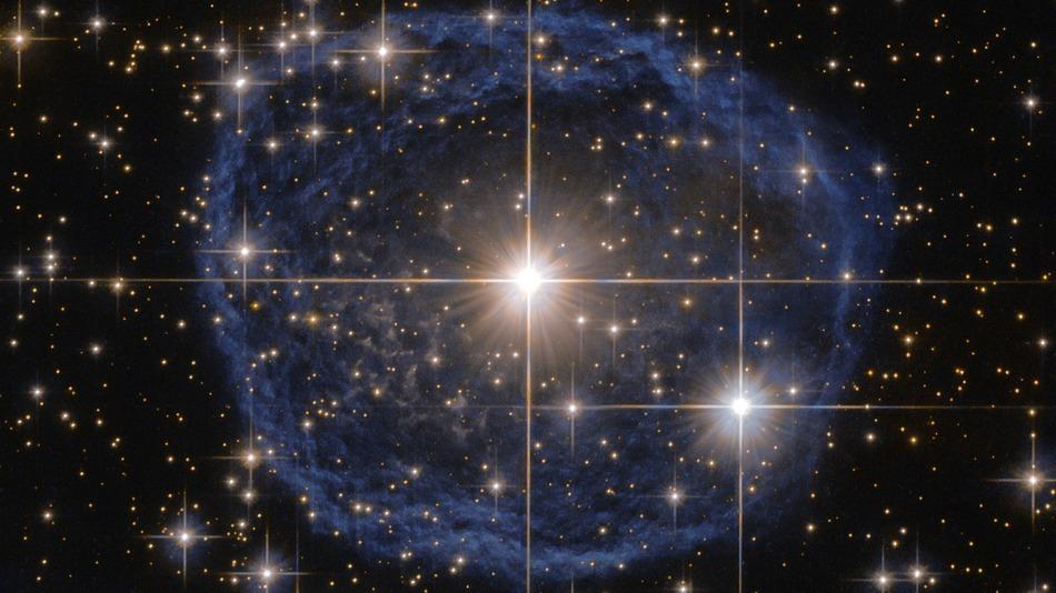 ¿Qué es esta impresionante burbuja azul en el espacio?