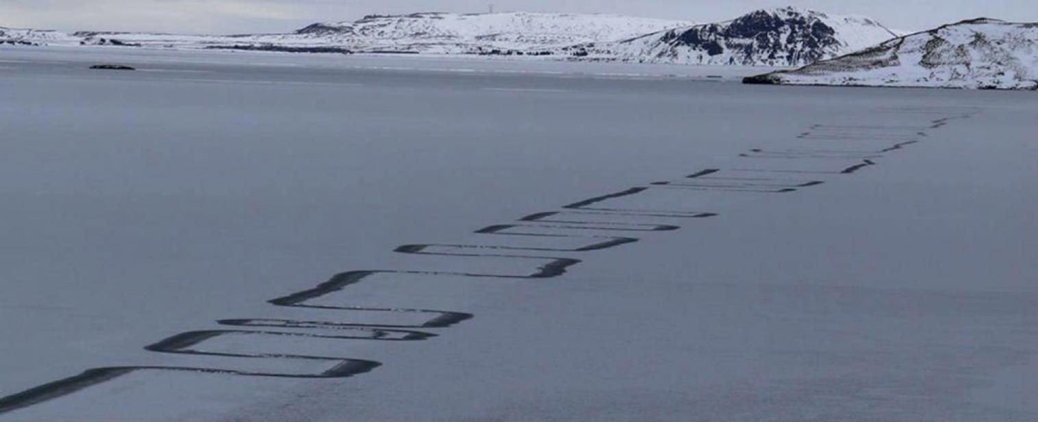 ¿Qué son estas misteriosas marcas en el hielo ártico?