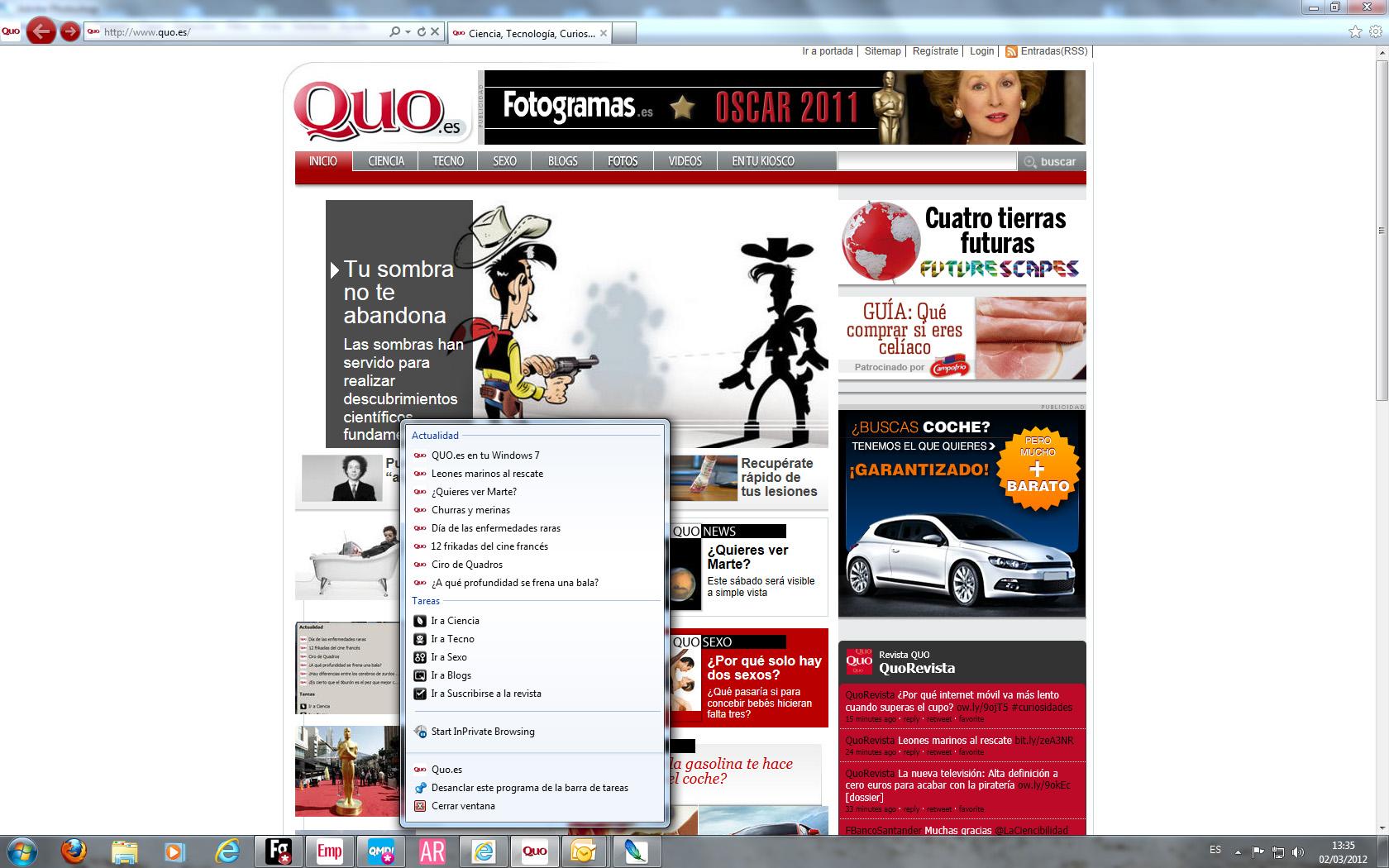 QUO.es en tu Windows 7