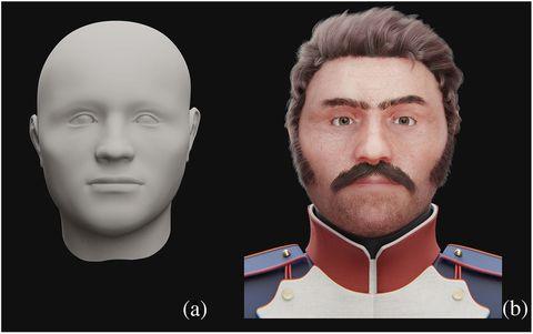 Reconstruyen el rostro de un soldado de Napoleón que sufrió una terrible herida