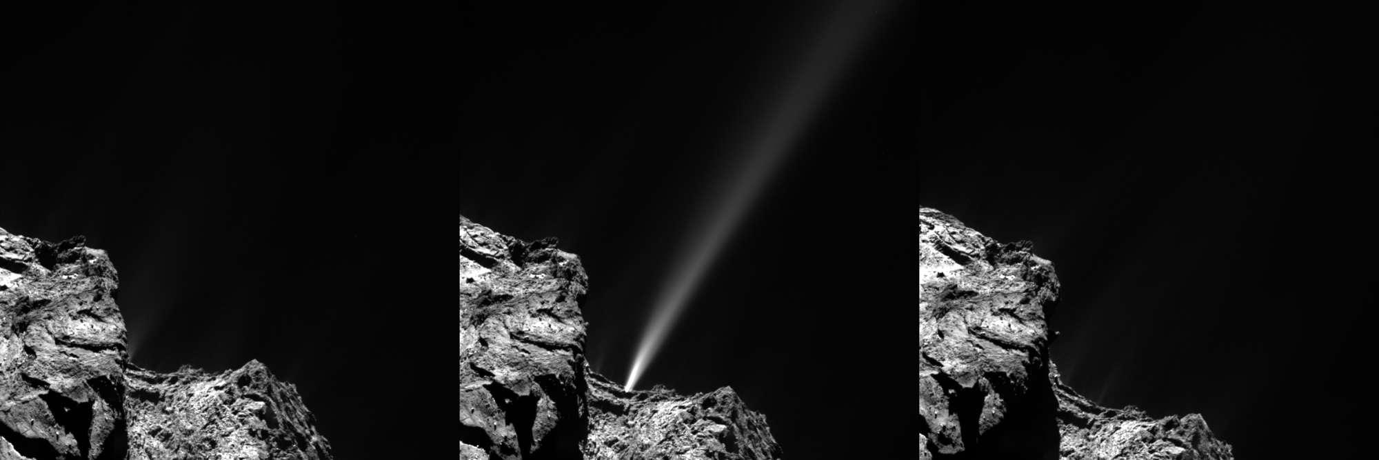 Rosetta detecta un pedo cósmico