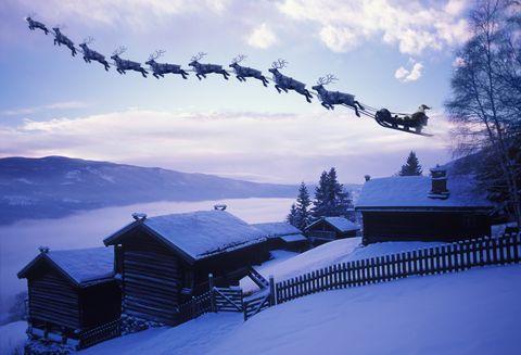 ¿A qué velocidad viaja Papá Noel para repartir todos los regalos en una noche?