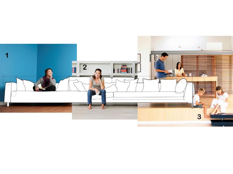 Tipos de personas y muebles