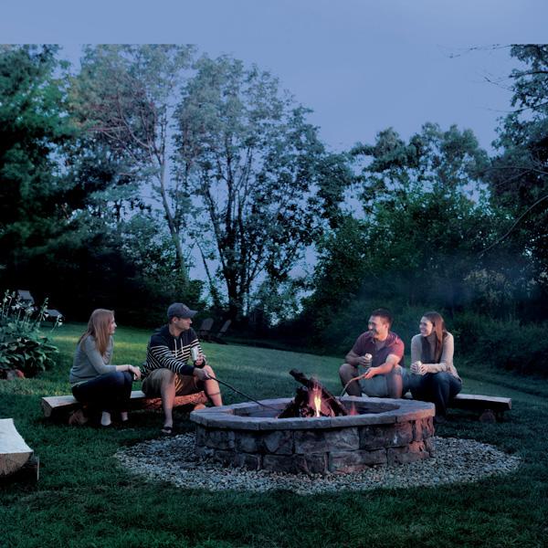 Trucos caseros: Construye una hoguera de jardín