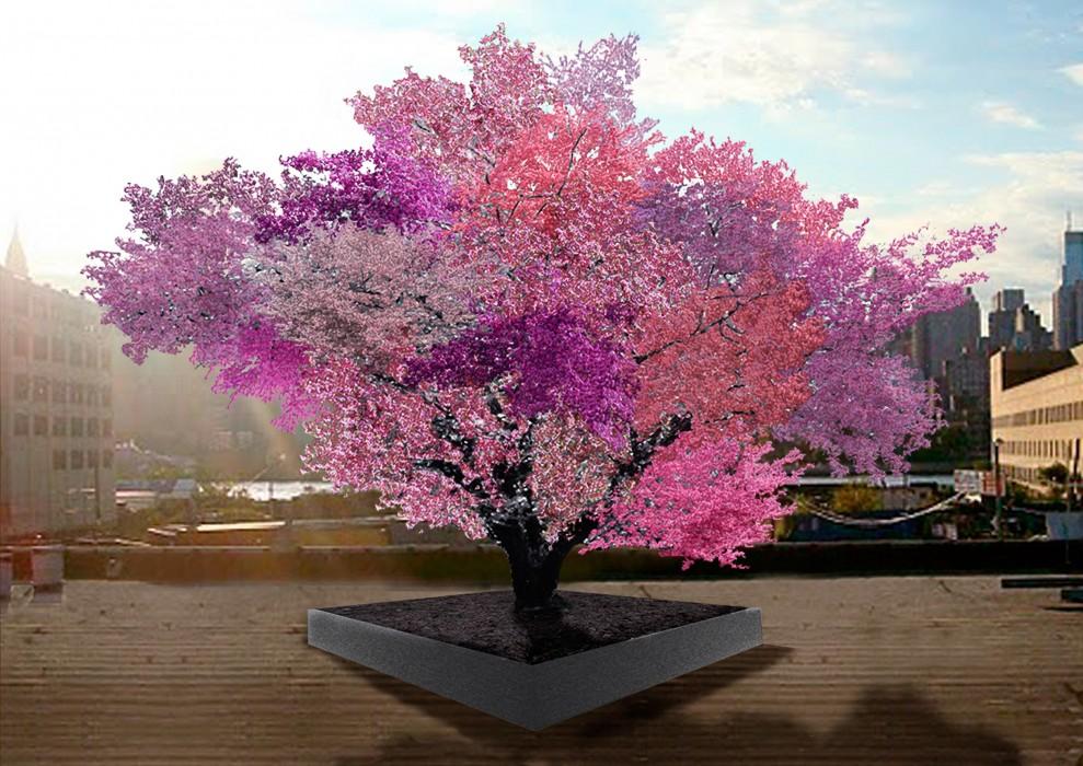 Un árbol que produce diferentes tipos de fruta