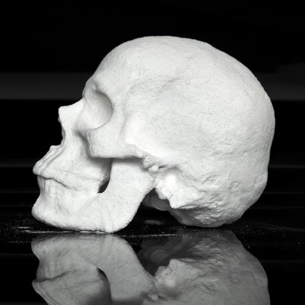 Un cráneo de cocaína