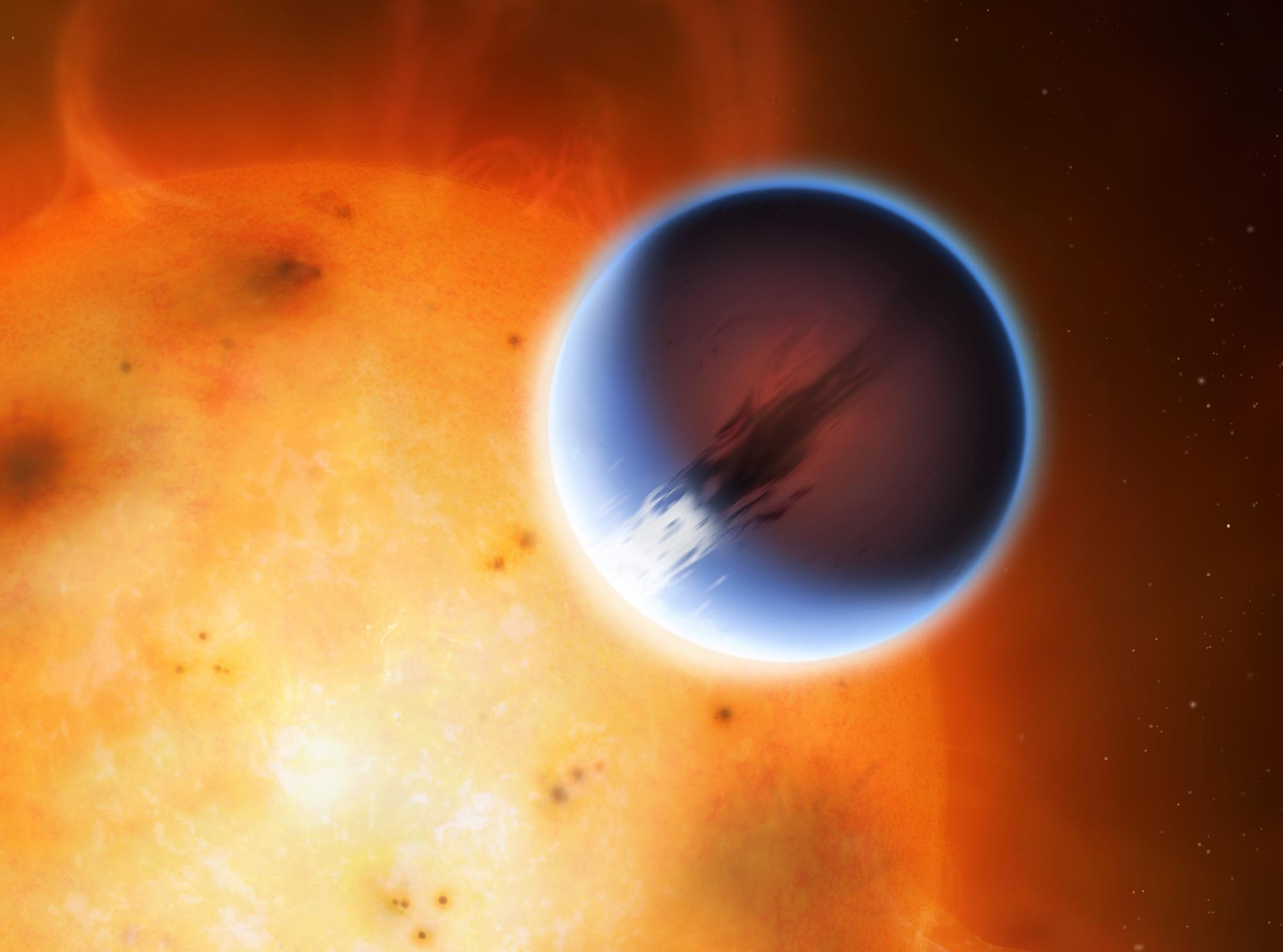 Un planeta con vientos supersónicos