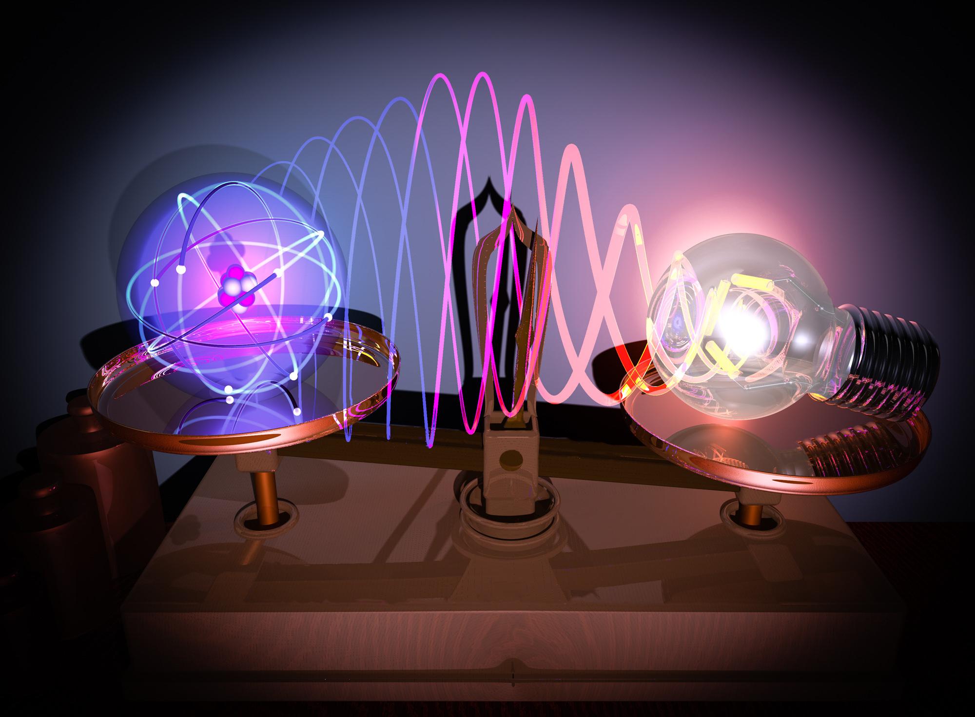 Una lupa que permite ver los enlaces químicos entre átomos