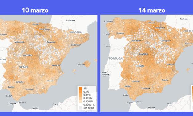 Mapa del coronavirus en España con la predicción para los próximos cuatro días