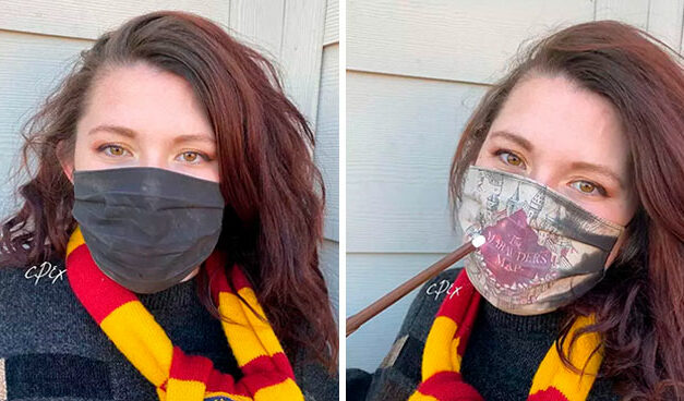 Una mascarilla digna de Harry Potter: muestra el mapa del merodeador cuando respiramos