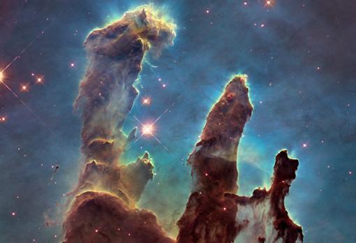 foto de columnas de polvo interestelar