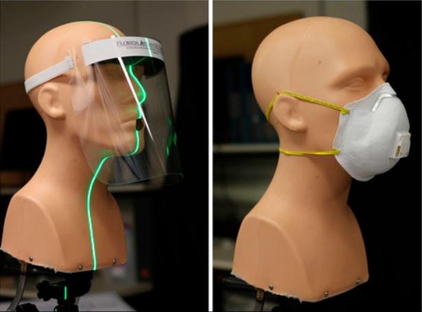 Las pantallas faciales y las mascarillas con válvula no impiden el contagio del coronavirus