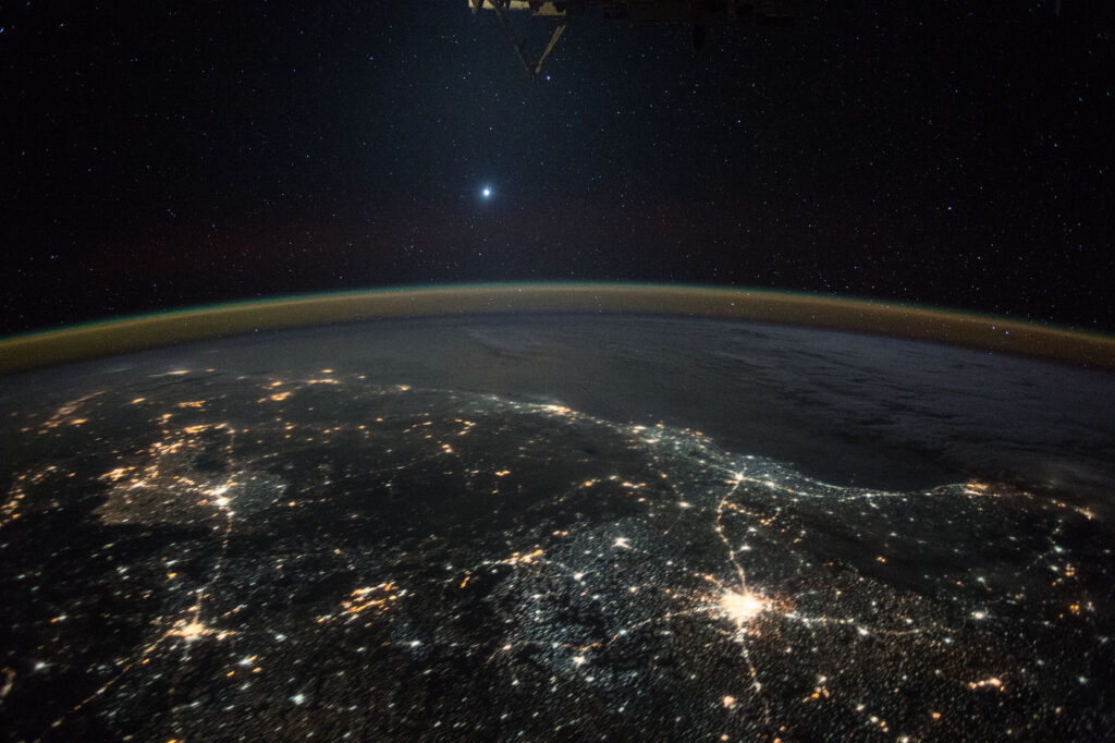 venus desde la ISS