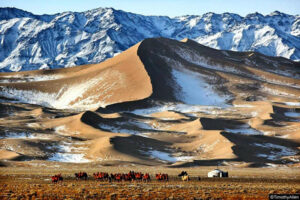 desierto gobi nevado