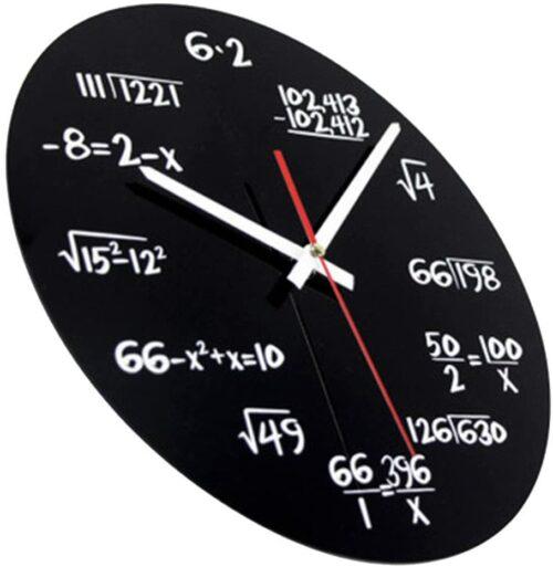 reloj fórmulas matemáticas