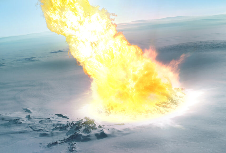 Un meteorito colosal estalló sobre la Antártida sin dejar cráter