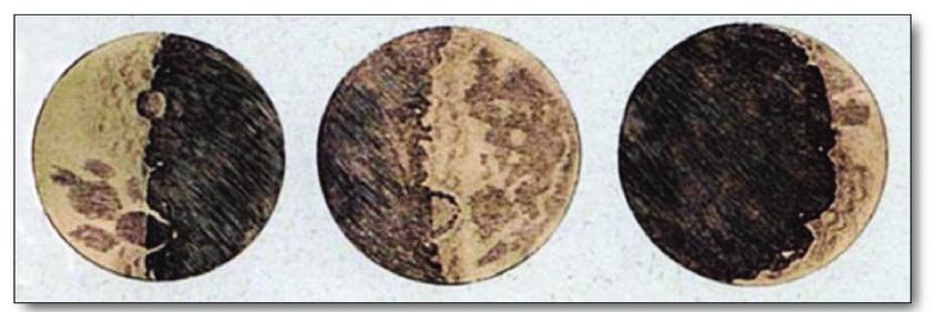 Dibujos de la Luna de Galileo
